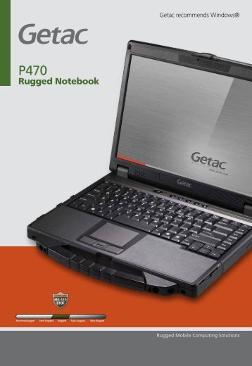 Rugged Notebook - Steatite Rugged