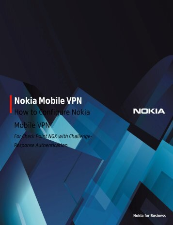 configure Nokia Mobile VPN