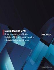 Nokia Mobile VPN and Cisco ASA Gateway (psk