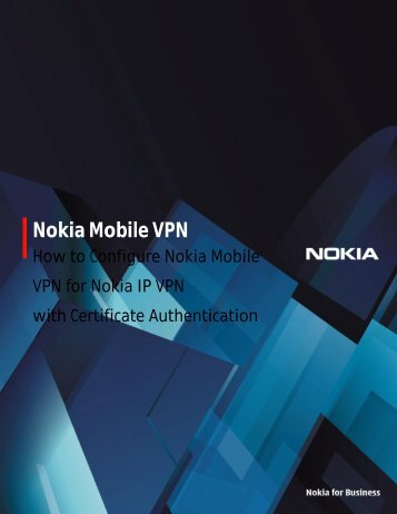 Nokia Mobile VPN