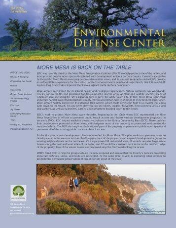 PDF Version here - Environmental Defense Center