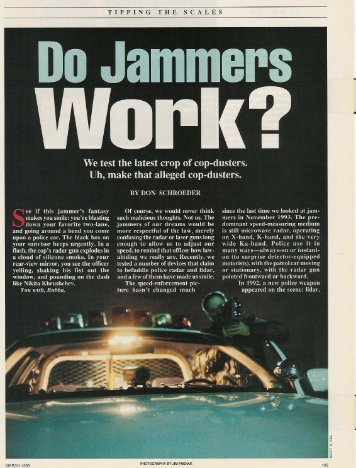 Do Jammers Work? - Remote Systems