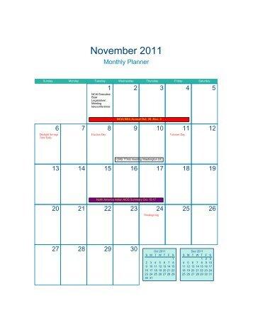 National Calendar (PDF) - SGCE: Self-Governance Works!