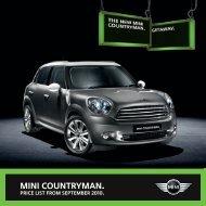 MINI Countryman Pricelist - totalMINI