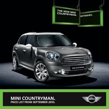 MINI Countryman Pricelist - totalMINI