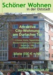 Attraktive City-Wohnung am Durlacher Tor Attraktive City-Wohnung ...