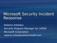 Microsoft Security Incident Response - clcert