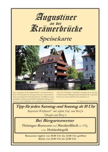 Speisekarte als PDF - Augustiner an der Krämerbrücke