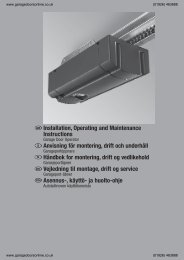Hormann Promatic installation.pdf - Garage Doors