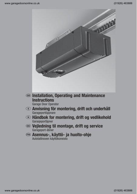 Hormann Promatic Installation Pdf Garage Doors