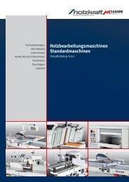 Holzbearbeitungsmaschinen Standardmaschinen - HK ...