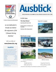 Ausblick we are dedicated to - the BMW Car Club of British Columbia