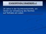 Verein Überblick - Eichendorfer Mühle Brandenburg eV