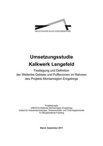 Umsetzungsstudie Kalkwerk Lengefeld - Wirtschaftsförderung ...