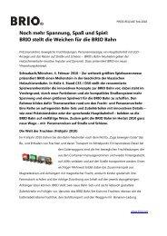 Noch mehr Spannung, Spaß und Spiel: BRIO stellt die Weichen für die BRIO Bahn