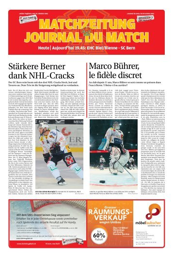 StärkereBerner dankNHL-Cracks MarcoBührer ... - Journal du Jura