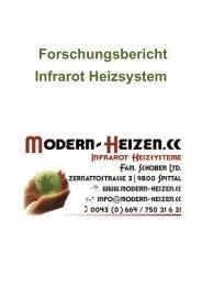 Forschungsbericht Infrarot Heizsystem
