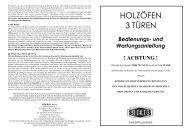 HOLZÖFEN 3 TÜREN - Feuer-Fuchs!