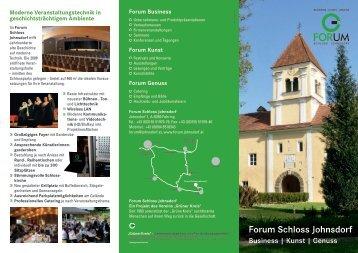 Forum Schloss Johnsdorf - Grüner Kreis