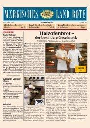 Ausgabe Nr. 6 - Januar 2009 - Märkisches Landbrot