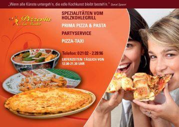 SPEZIALITÄTEN VOM HOLZKOHLEGRILL PRIMA PIZZA & PASTA ...