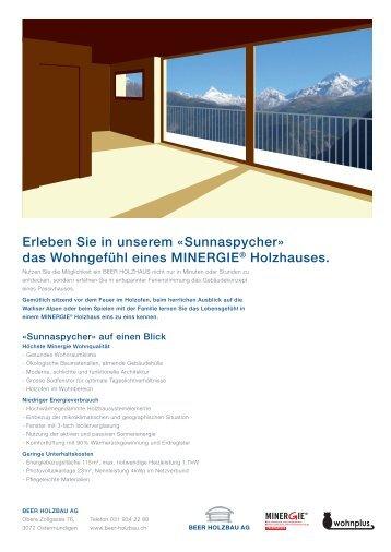 Infobroschüre im PDF - bei der Beer Holzbau AG