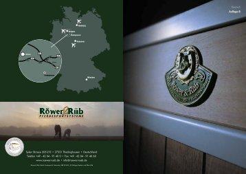 Teilkatalog Pferdeboxen - Röwer & Rüb