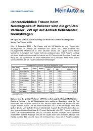 VW up! auf Anhieb beliebtester Kleinstwagen - MeinAuto.de