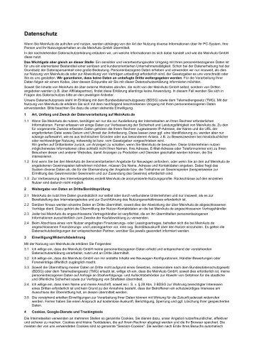 Datenschutz - MeinAuto.de