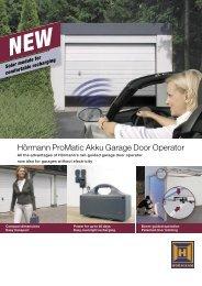 ProMatic Akku Garage Door Operator - Garage Doors
