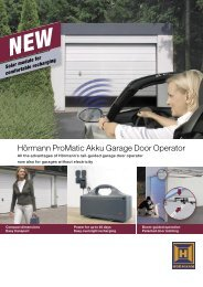 ProMatic Akku Garage Door Operator - Garage Doors