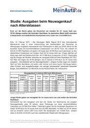 Studie: Ausgaben beim Neuwagenkauf nach ... - MeinAuto.de