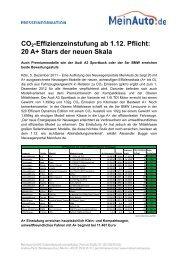 Pressemitteilung herunterladen - MeinAuto.de