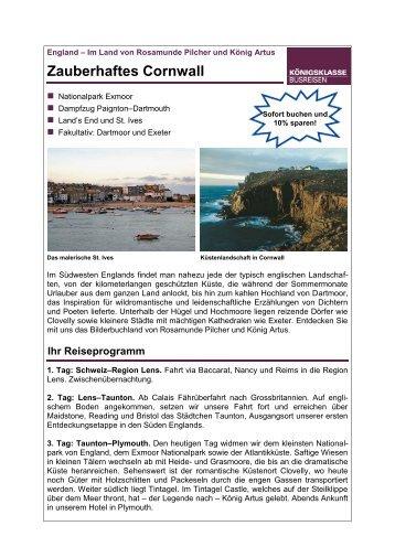 Zauberhaftes Cornwall - Twerenbold Reisen AG