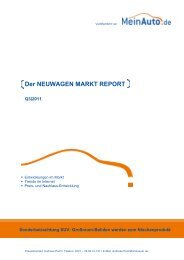 Der NEUWAGEN MARKT REPORT -  MeinAuto.de