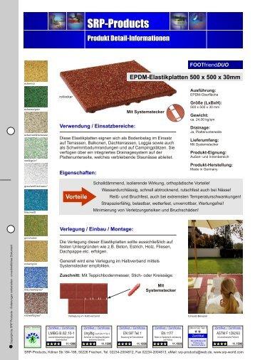 Info EPDM-Elastikplatten 50x50