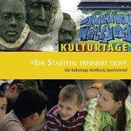 KULT U RT AGE KULT U RT AGE - Wohnungsbau Stadt Moers GmbH