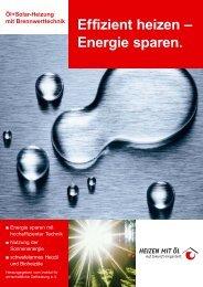 Effizient heizen – Energie sparen. - Ewald Wolter GmbH