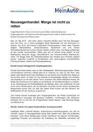 Neuwagenhandel: Marge ist nicht zu retten - MeinAuto.de