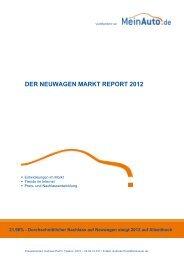 DER NEUWAGEN MARKT REPORT 2012 - MeinAuto.de