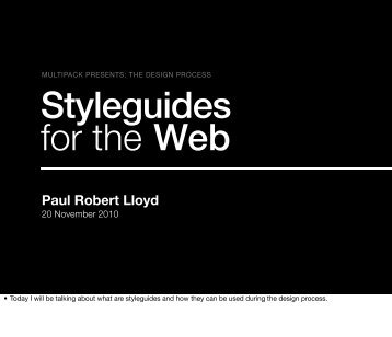 Styleguides for the Web