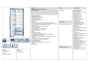Bosch KSV36AI41 Stand Kühlschrank Vorgänger: Vertrieblicher .