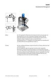 Einschaltventil mit Filterregelventil 1/2 Das ... - Festo Didactic