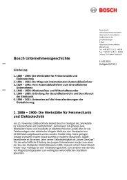Bosch Unternehmensgeschichte
