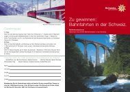 Zu gewinnen: Bahnfahrten in der Schweiz. - Miniatur Wunderland ...