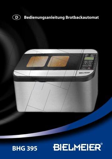 D Bedienungsanleitung Brotbackautomat - Bielmeier
