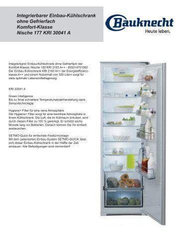 Kuhlen kuhl gefrierger for Kühlschrank einbauf hig ohne gefrierfach