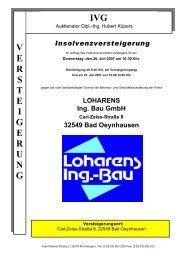 Loharens Ing.-Bau GmbH - IVG mbH & Co. KG