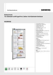 Kühlschrank Tür Edelstahl antiFingerPrint, Seiten Voll-Edelstahl ...