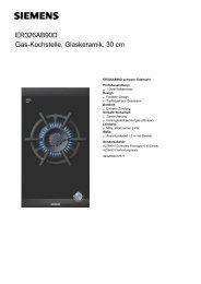 ER326AB90D Gas-Kochstelle, Glaskeramik, 30 cm